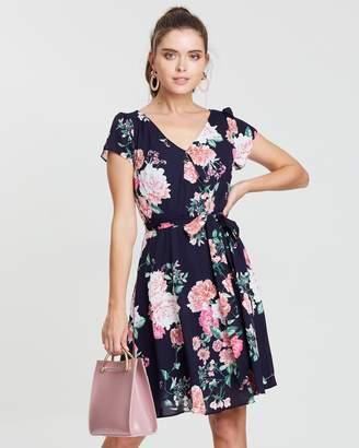 Petite Crop Bloom Crepe Dress