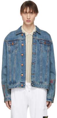 Han Kjobenhavn Blue Denim Velcro Jacket