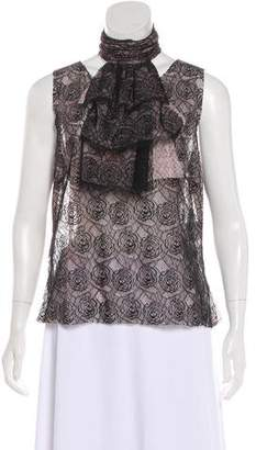 Chanel Camellia Lace Top