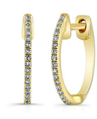 Anne Sisteron Diamond Huggie Earrings