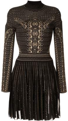 Roberto Cavalli henna jacquard knit dress