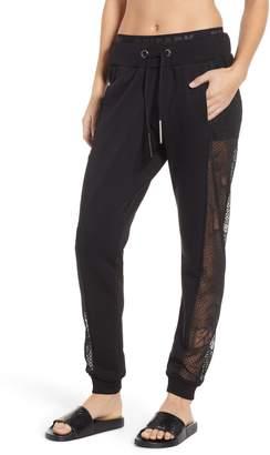 Ivy Park R) Distressed Mesh Panel Track Pants