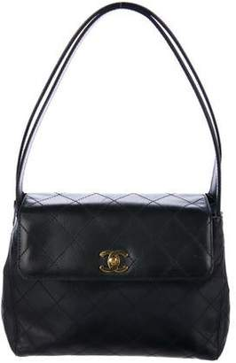 Chanel Quilted Top Handle Bag