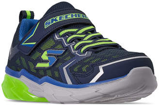 Skechers Little Boys' Thermoflux Nano Adjustable Strap Wide Width Running Sneakers from Finish Line