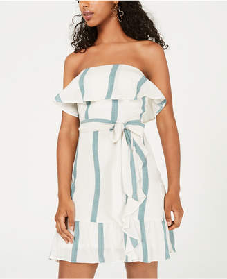 City Studios Juniors' Strapless Woven Dress