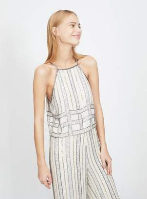 Miss Selfridge 90s Embellished Striped Camisole Top
