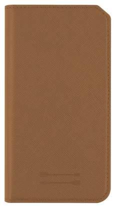 Uri Minkoff Saffiano Leather iPhone 7 Plus Folio Case - Luggage Brown