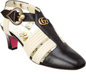 Gucci Leather T-Strap Pump