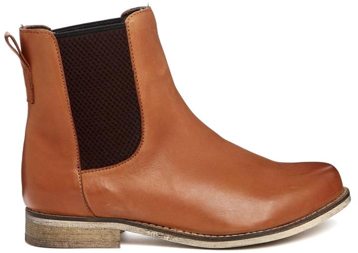 ASOS AU REVOIR Leather Chelsea Ankle Boots