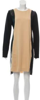 Reed Krakoff Leather-Trimmed Mini Dress w/ Tags