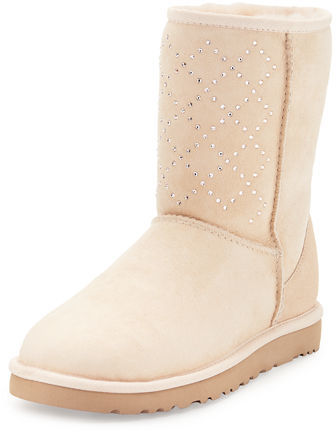 UGG UGG Classic Short Crystal Suede Boot