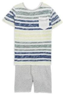 Splendid Baby's, Toddler's& Little Boy's Reversible Stripe Tee and Shorts Set