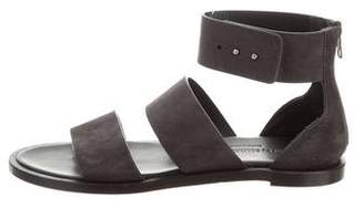 Common Projects Woman by Suede Ankle-Strap Sandals