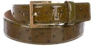 Michael Kors Embossed Patent Leather Belt