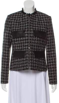 Louis Vuitton Tweed Leather-Accented Jacket