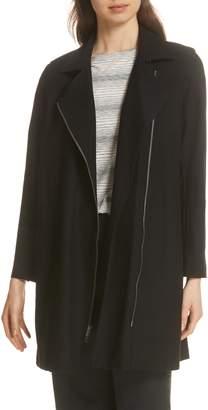 Eileen Fisher Long Moto Jacket