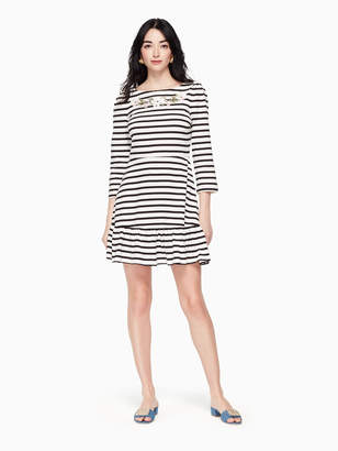 Kate Spade stripe fit and flare dress