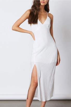 Cotton Candy Midi Slit Dress