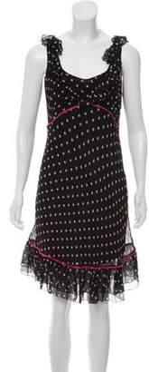 Blugirl Silk Polka Dot Print Dress