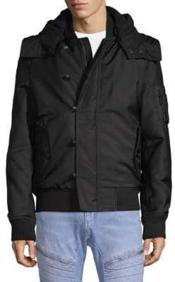Pierre Balmain Ribbed Trim Hooded Jacket