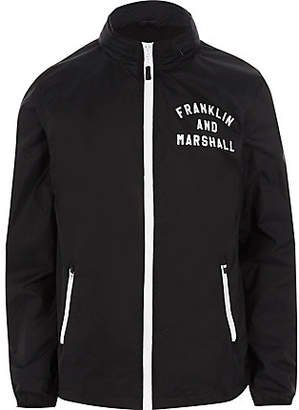River Island Franklin and Marshall navy lightweight jacket