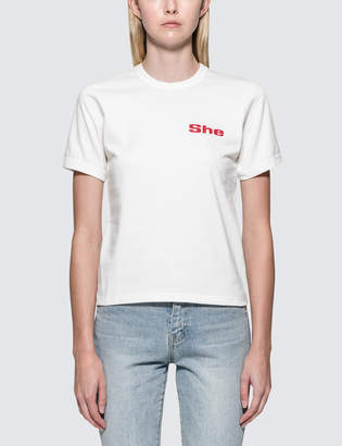 "Misbhv She"" Fitted S/S T-Shirt"