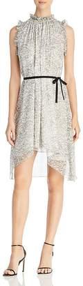 Elie Tahari Balere Swirl Print Silk Dress