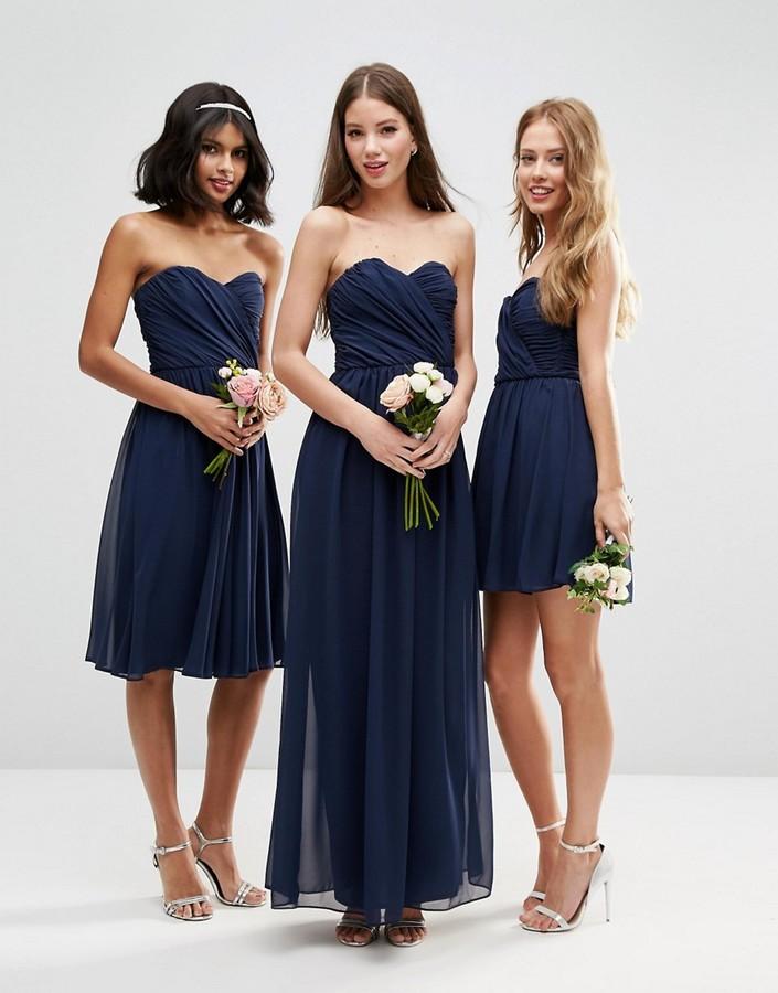Asos wedding bandeau maxi dress women for Shoes for maxi dress wedding
