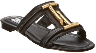 Tod's Double T Leather Slide