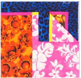 Pierre Louis Mascia Pierre-Louis Mascia floral print panelled scarf