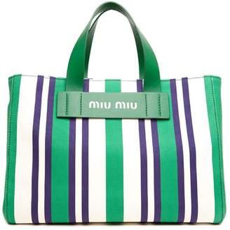 Miu Miu Striped Shoulder Bag