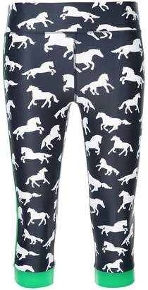 The Upside horse print cropped leggings