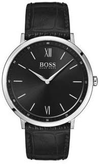 HUGO BOSS Essential Ultra Slim Leather Strap Watch
