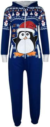 Original Penguin a2z4kids Kids Girls Boys Novelty Christmas Fleece Onesie All In One Jumpsuit 5-13