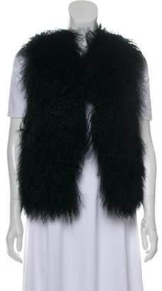 Michael Kors Mongolian Lamb Fur Vest Black Mongolian Lamb Fur Vest