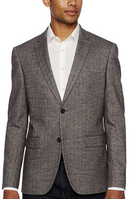 U.S. Polo Assn. Gray Herringbone Slim Fit Sport Coat