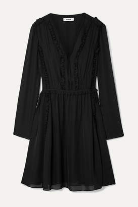 Jason Wu Ruffled Silk-georgette Mini Dress - Black