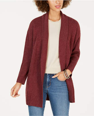 Style&Co. Style & Co Petite Ribbed Shawl-Collar Cardigan