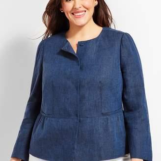 Talbots Linen Peplum Jacket