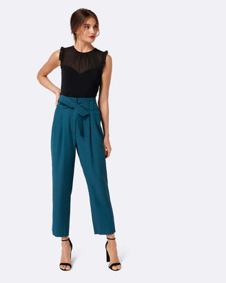 Forever New Natalia Tie Waist Tapered Pants