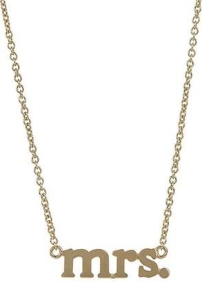 """Jennifer Meyer Women's """"Mrs."""" Pendant Necklace"""