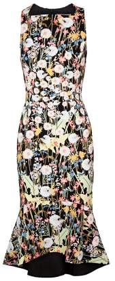 Peter Pilotto Kia Floral-print Cady Midi Dress