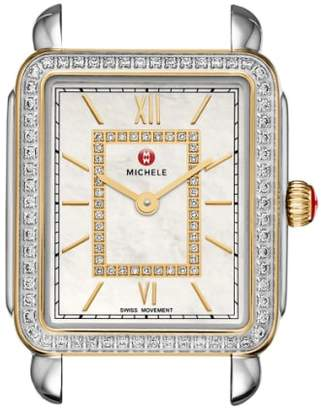 Michele Deco II Mid Diamond Dial Watch Case, 26mm x 28mm