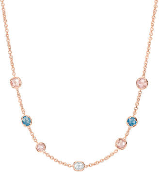 Alor Delatori by Delatori By 18K Rose Gold Over Silver 16.20 Ct. Tw. Gemstone Necklace