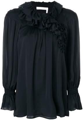 Chloé ruffle collar blouse