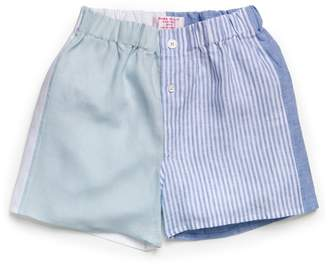 Emma Willis Patchwork Linen Boxer Shorts