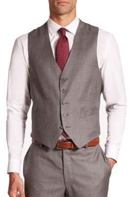 Samuelsohn Textured Wool Vest