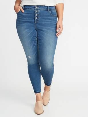 Old Navy High-Rise Secret-Slim Plus-Size Button-Fly Rockstar Jeans