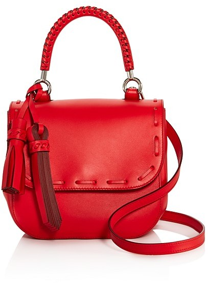 Max Mara Max Mara Stitch Small Leather Satchel