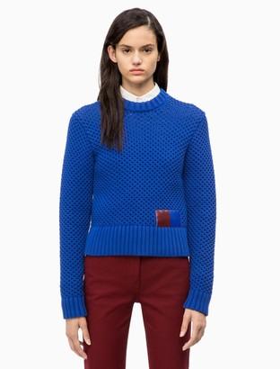 Calvin Klein Cotton Blend Honeycomb Sweater